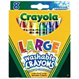 Crayola Crayons Kids First Large Washable 8 in a Box (Pack of 8) 64 Crayons Total (Tamaño: 8 Pack)