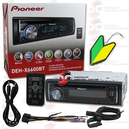 "2014 Pioneer 1Din Car Cd Mp3 Wma Stereo With Remote Bluetooth & Pandora Support ""Free"" 3.5Mm Aux-In Cable & Squash Air Freshener"