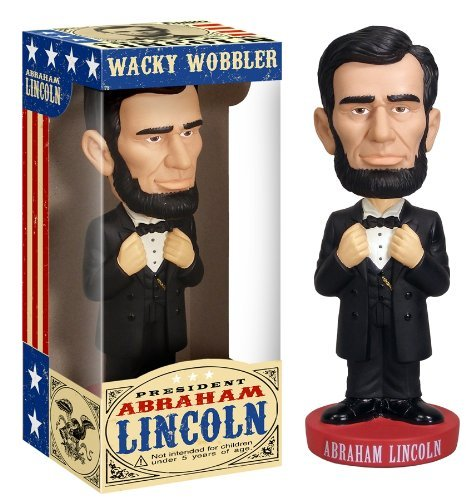 Buy Low Price Funko Abe Lincoln Wacky Wobbler (Styles May Vary) Figure (B001TRLQHY)