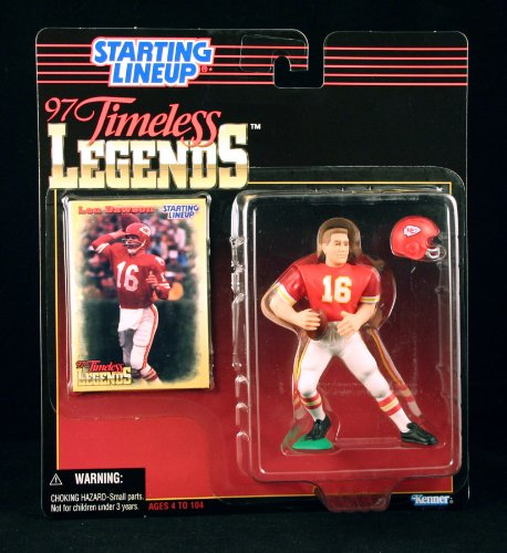 LEN DAWSON / KANSAS CITY CHIEFS * 1997 TIMELESS LEGENDS Kenner NFL Starting Lineup & Exclusive Collector Trading Card