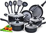 51pM6RNzPoL. SL160  Cook N Home 15 Piece Non stick Aluminum Soft handle Cookware Set