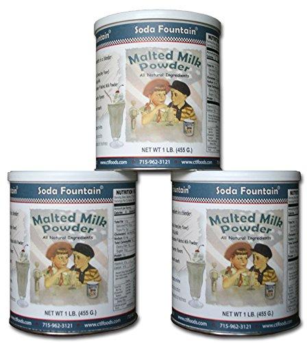 Soda Fountain Malted Milk Powder, 16-Ounce (Pack of 3) (Soda Fountain Malt compare prices)