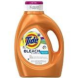 Tide Plus Bleach Alternative Liquid Laundry Detergent, Clean Breeze, 92 Fluid Ounce