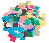 Hygloss Tissue Squares - 1 inch Squares - Pack of 2,500 Pieces - Assorted Colors