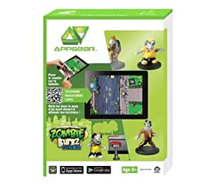 WowWee W0123 AppGear ZombieBurbz Services Edition Mobile Application Game for Apple or Android Devices - Retail Packaging - Grey