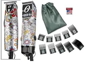 Oster Classic 76 Hair Clipper and T-Finisher silver trimmer Funkadelic (limited Edition) and a 10 piece comb set Package.