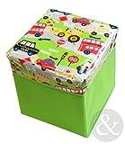 KIDS STORAGE BOXES Boys Girls Plastic Laundry Childrens Toy Storage Unit Box Transport Green red grey yellow 30cm x 30cm x 32cm