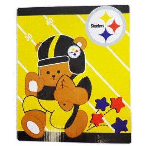 NFL Pittsburgh Steelers Raschel Blanket 40in x 50in - Baby Blanket from SteelerMania