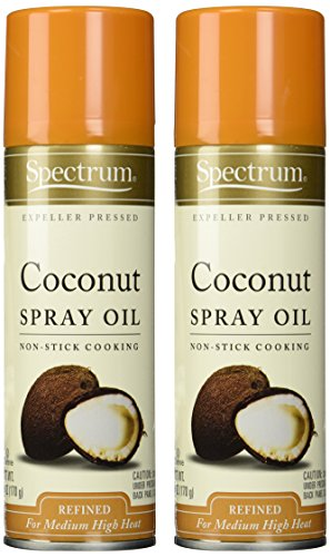 Spectrum Naturals Organic Coconut Oil Spray, 6 Ounce (Pack of 2)