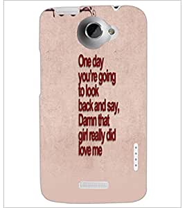 PrintDhaba Quote D-4762 Back Case Cover for HTC ONE X (Multi-Coloured)