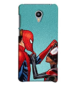 Omnam Spiderman Cartoon Printed Back Cover Case For Meizu M2