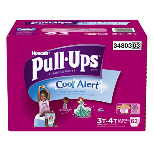 Pull-Ups Training Pants with Cool Alert for Girls, 62 Count (Cool Alert Training Pants compare prices)