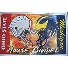 Ohio State Buckeyes Michigan Rivalry House Divided Helmet Flag 5