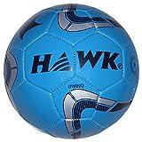 HAWK Unisex Rubber Football 5 Blue & Silver