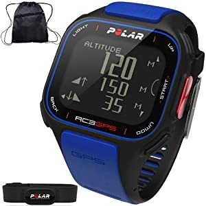 Buy Polar - RC3 GPS Heart Rate Monitor Watch with Cinch Bag - Blue by Polar