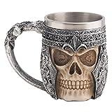 CHICVITA Stainless Steel Skull Mug For 3D Design
