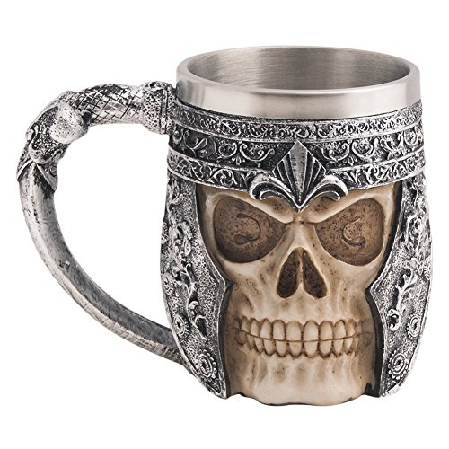 CHICVITA Stainless Steel Skull Coffee Mug for 3D Design (Skull Mug Coffee compare prices)