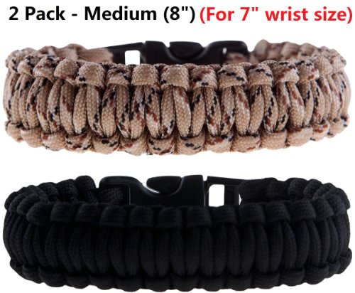 2 Pack of Premium Paracord / Para-cord Survival