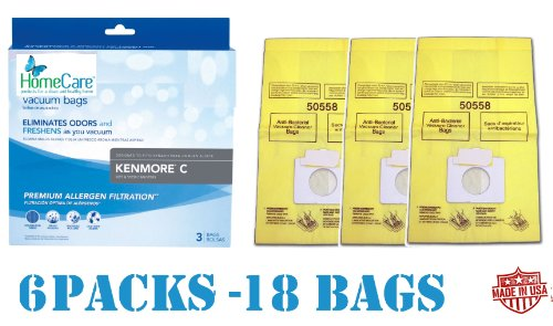18 Spring Scented Kenmore 5055 Canister Vacuum Bags, 6 Pks of 3 Bags. Proudly Made in USA (Usa Made Vacuum Cleaners compare prices)