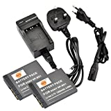DSTE® 2pcs NP-BD1 Rechargeable Li-ion Battery + Charger DC02U for Sony NP-BD1, NP-FD1 and Sony Cyber-shot DSC-G3, DSC-T2, DSC-T70, DSC-T75, DSC-T77, DSC-T90, DSC-T200, DSC-T300, DSC-T500, DSC-T700, DSC-T900, DSC-TX1 etc ...