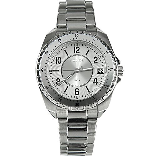 Police Miami Women's Quartz Watch with Silver Dial Analogue Display and Silver Stainless Steel Bracelet 13669MS/04M