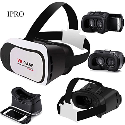 3D VR Glasses for iphone 6 Plus/6s/5c/5s,IPRO 3D Virtual Reality Glasses Google Cardboard VR Box 3rd Gen Head-mounted Movie Helmet Video Glasses for IOS&Android 4.7-6 inch Smartphone
