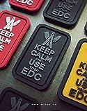Keep Calm & Use Your EDC 3D Rubber Velcro Patch GRAU