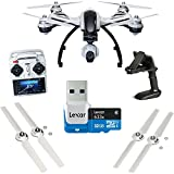 Yuneec Q500+ Typhoon Quadcopter with Aluminum Case, Free 32 GB Micro SD Card and Handheld CGO SteadyGrip Gimbal. Extra Battery, Propellers Included.