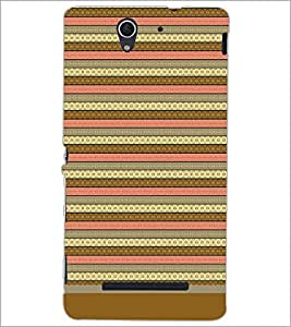 PrintDhaba Tribal pattern D-1805 Back Case Cover for SONY XPERIA C3 (Multi-Coloured)