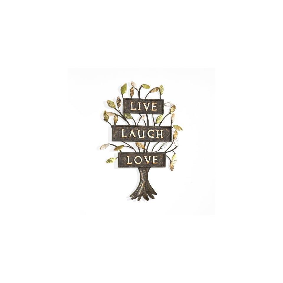 SEI Live Laugh Love Tree Wall Sculpture