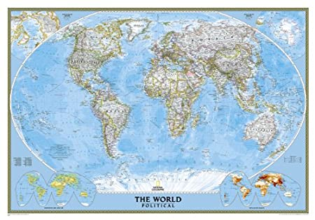World classic wall map poster print 2436 best sellers education world classic laminated national geographic reference map reference world gumiabroncs Choice Image