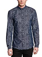 Selected Homme Camisa Hombre Tobe Ls S C (Azul)