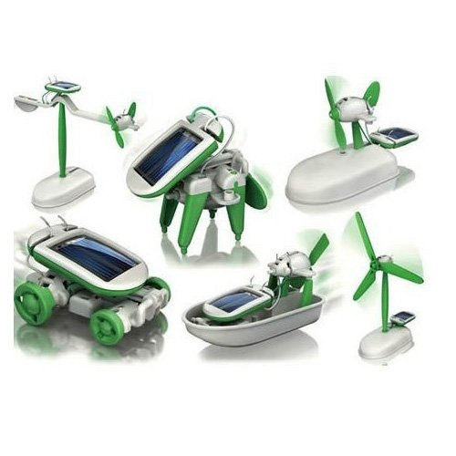 New 6 In 1 Educational Solar Toys Kit Robot Chameleon (Six In One Solar Robot Kit compare prices)