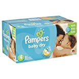 Pampers Baby Dry Diapers, Size 4 (22-37 lb), Sesame Street, 92 diapers