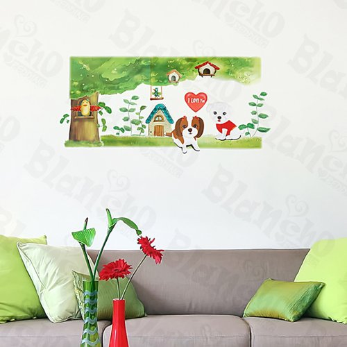 Blancho Bedding Lovely Dog - Large Wall Decals Stickers Appliques Home Decor