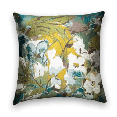 22x22 Throw Pillow Covers : Pillow Cover 18X18 Or 20X20 Or 22X22 Throw Pillow Green Blue Yellow White And Brown - John T ...