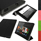 IGadgitz Premium Smart Cover Black PU Leather Case for Amazon Kindle Fire HD 7.0