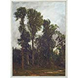 Trees at Hampstead: The Path to Church by John Constable (Framed Canvas)||EVAEX