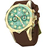 Watchstar British Hawker Hurricane 33 Jewels Automatic Chronograph Gold/Green