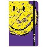 Pequeño cuaderno Smiley morado