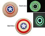 #8: Excel Productions Captain America Glow in Dark Fidget Spinner, Red