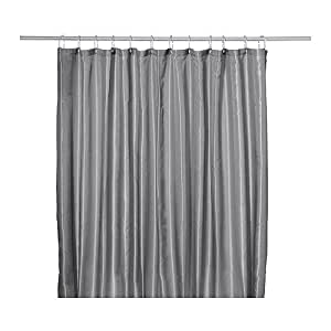 Grey Ruffle Shower Curtain Double Sided Curtain Panels