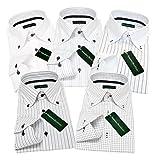 (グリニッジ ポロ クラブ) GREENWICH POLO CLUB ワイシャツ 5枚セット ボタンダウン 白 pa M-スマート