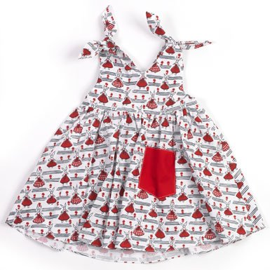 V&A 'Rabbits' Childrens Dress (0-6 months)||EVAEX||RF10F