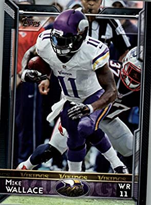 2015 Topps #188 Mike Wallace - Minnesota Vikings (NFL Football Cards)