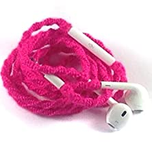 buy Tangle Free Earbuds For Iphone Neon Pink Made With Microphone And Volume Control - By Mybuds