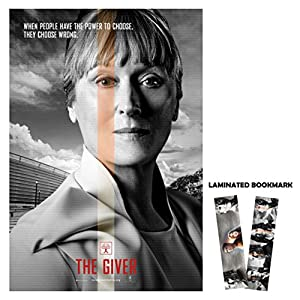 "The Giver (2014) Poster 13"" x 19"" BORDERLESS Chief Meryl Streep + Laminated Bookmark"