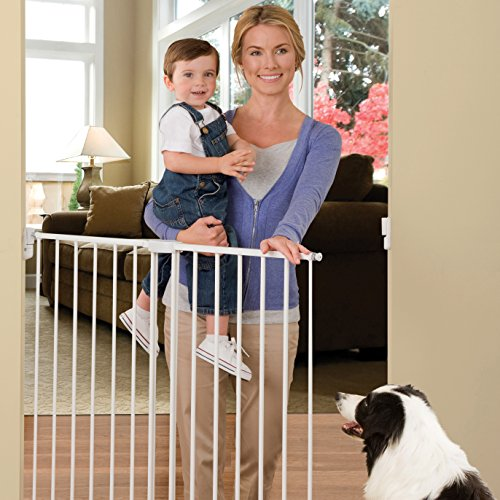 Munchkin Extending Extra Tall And Wide Metal Gate White
