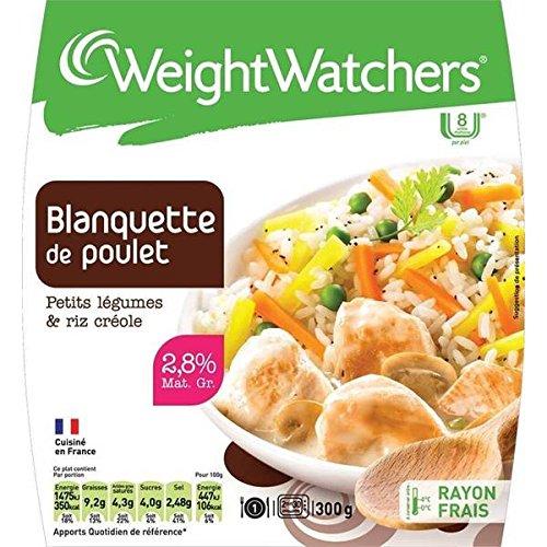 Weight Watchers - Marie Blanquette de poulet petits pois légumes et riz créole Weight Watchers