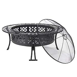 Amazon.com : Sunnydaze Diamond Weave Large Fire Pit, 40 Inch Diameter